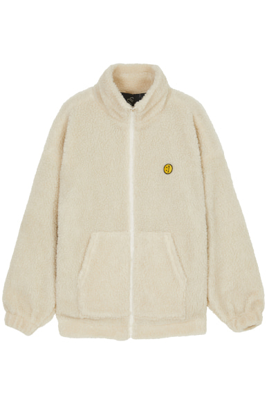 [영탁, 장민호 착용] SM:]E PATCH FLEECE ZIP UP REVERSIBLE JACKET IVORY
