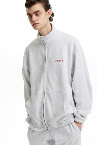 [이승기 착용] 2WAY ZIP UP TRACK TOP WHITE MELANGE